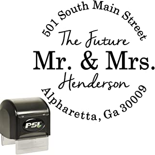 round address stamp personalized