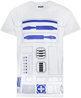 Camiseta de Hombre Star Wars R2D2 C2PO Dark Vader Han Solo Leia Estrella