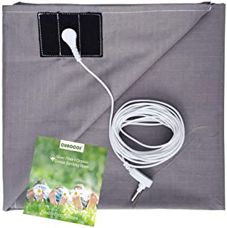 Grounding Sheets with Grounding Cord - Silver Fiber Conductive Sheet (27x52 inch)