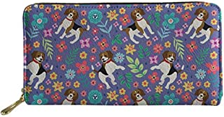 UNICEU Women Girls Long Clutch Wallet Animal Printed PU Leather Travel Purse Card Holder