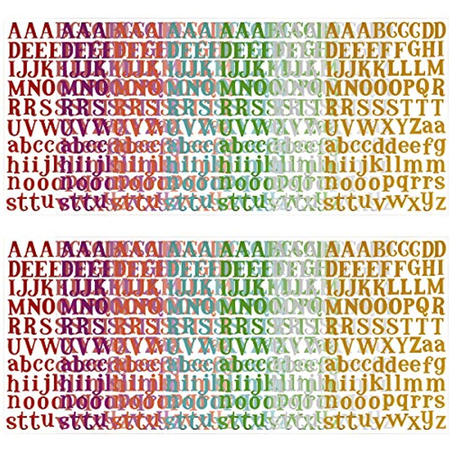 MADHOLLY 14 Sheets Letter Gift Alphabet Sticker, Colorful Self Adhesive Letter