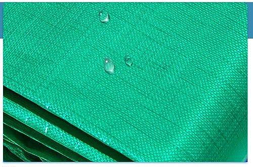 MYMAO 001Tissu Enduit de PVC de bache imperméable, boutonnière Facile à Plier Le Tissu de Film Isolant de bache de polyéthylène PE,5mx7m