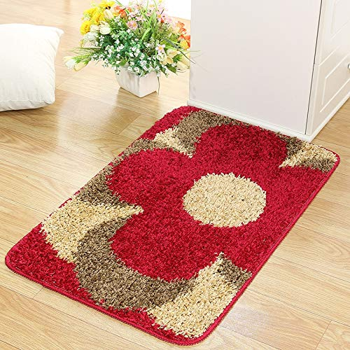ZHAJIAN carpet Carpet Bath Mat With Floral Carpets Non-Slip Yoga Mats 3D Rug For Living Room,Home Decor 50X80Cm