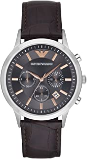 Emporio Armani Men's AR2513 Dress Brown Leather Quartz Watch