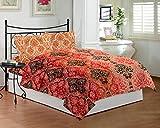Bombay Dyeing Royal Touch - Juego de sábanas para cama de matrimonio (DSN-04) (azul) - TC-290