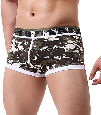 HaiDean Men's Under Men's Warming Boxer Modern Casual Shear Shorts Mens Erotic Warming Underpants Men's Boxer Briefs Thong Underwear Men's Bumpers Sports Underpants