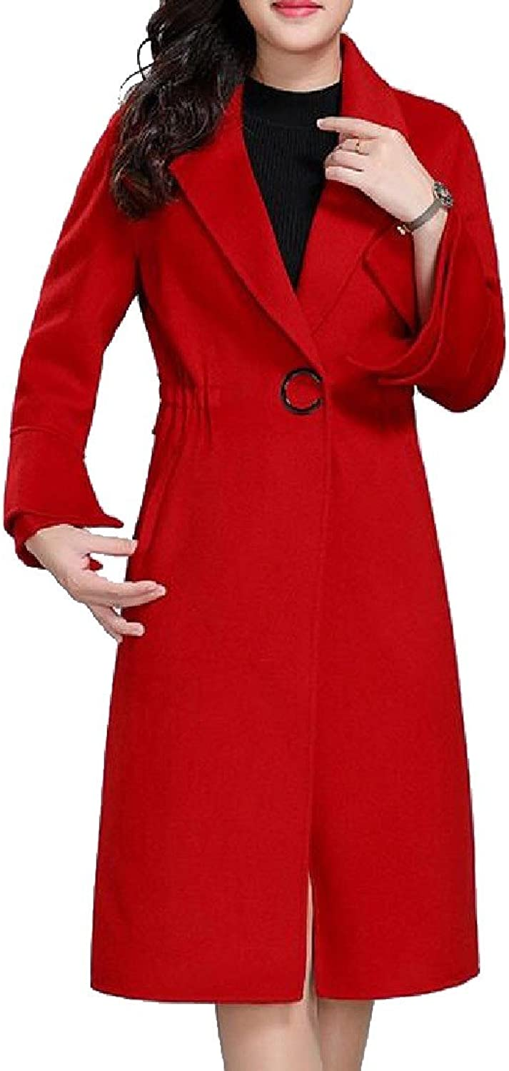 Comfy Women DoubleFaced Woolen Goods Wedding Party Overcoat Peacoat