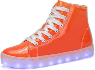 Voovix Kids LED Light up Shoes USB Charging Flashing High-top Sneakers for Boys Girls Child Unisex