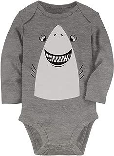Tstars - Great White Shark Easy Halloween Costume Cute Baby Long Sleeve Bodysuit