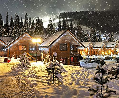 nonbranded 1000 Stück Holzpuzzle Geschenk Schnee Nacht Straßenlaternen Weihnachtsbeleuchtung Stadt
