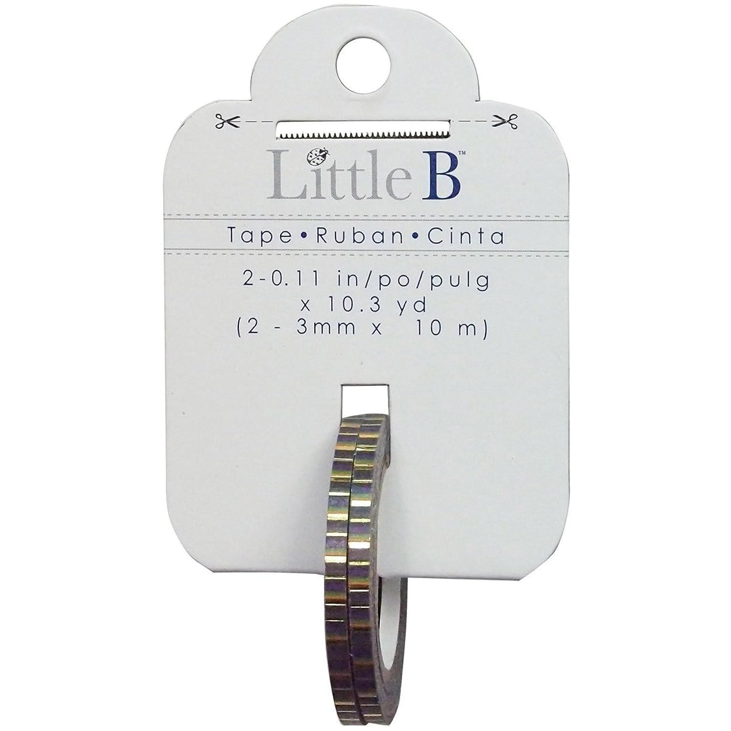 Little B 100776 Decorative Foil Paper Tape, Halloween Stripes with Gold Foil