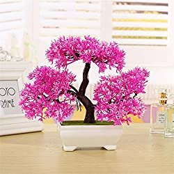 Artificial Pink Bonsai Cedar Plant Ornament