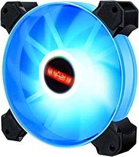 Generic High 12cm LED RGB Round Computer Case Cooling Fan Accessories,Efficient and Aesthetic - Blue Light 01