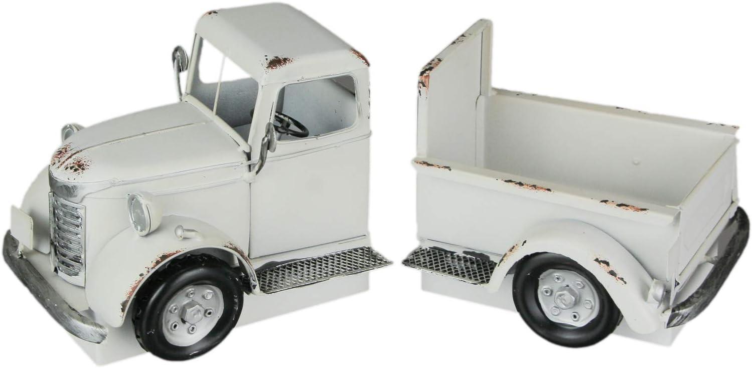 AHD Antique White Dallas Mall Truck Decorative Holder Industry No. 1 Bookends Plant