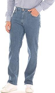 YODOKI Jeans Skinny Uomo Pantaloni Dritti Elasticizzati Casual Taglie Forti Pantaloni Neri Slim Fit a Matita in Jeans Blu