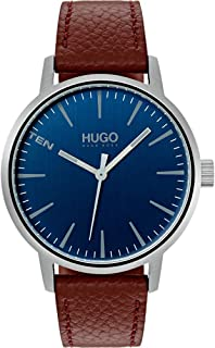 Hugo Boss Men's Blue Dial Brown Leather Watch - 1530076