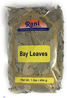 Rani Bay Whole Leaf (Leaves) Spice Hand Selected Extra Large 16oz (454g) 1lb Bulk Pack All Natural ~ Gluten Free Ingredien...