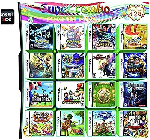 208 in 1 Games Game Multi Cartridge for Nintendo DS NDS NDSL NDSi 3DS 2DS XL (208)