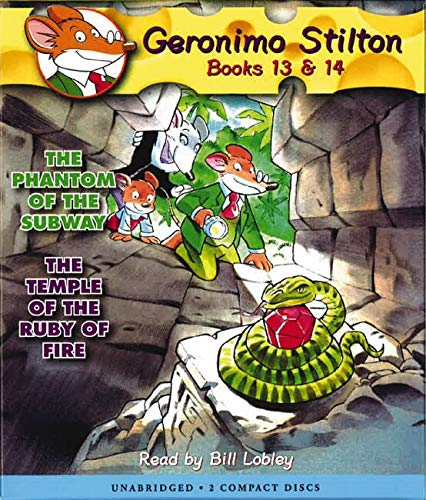 The Phantom of the Subway / The Temple of the Ruby of Fire (Geronimo Stilton Audio Bindup #13 & 14)