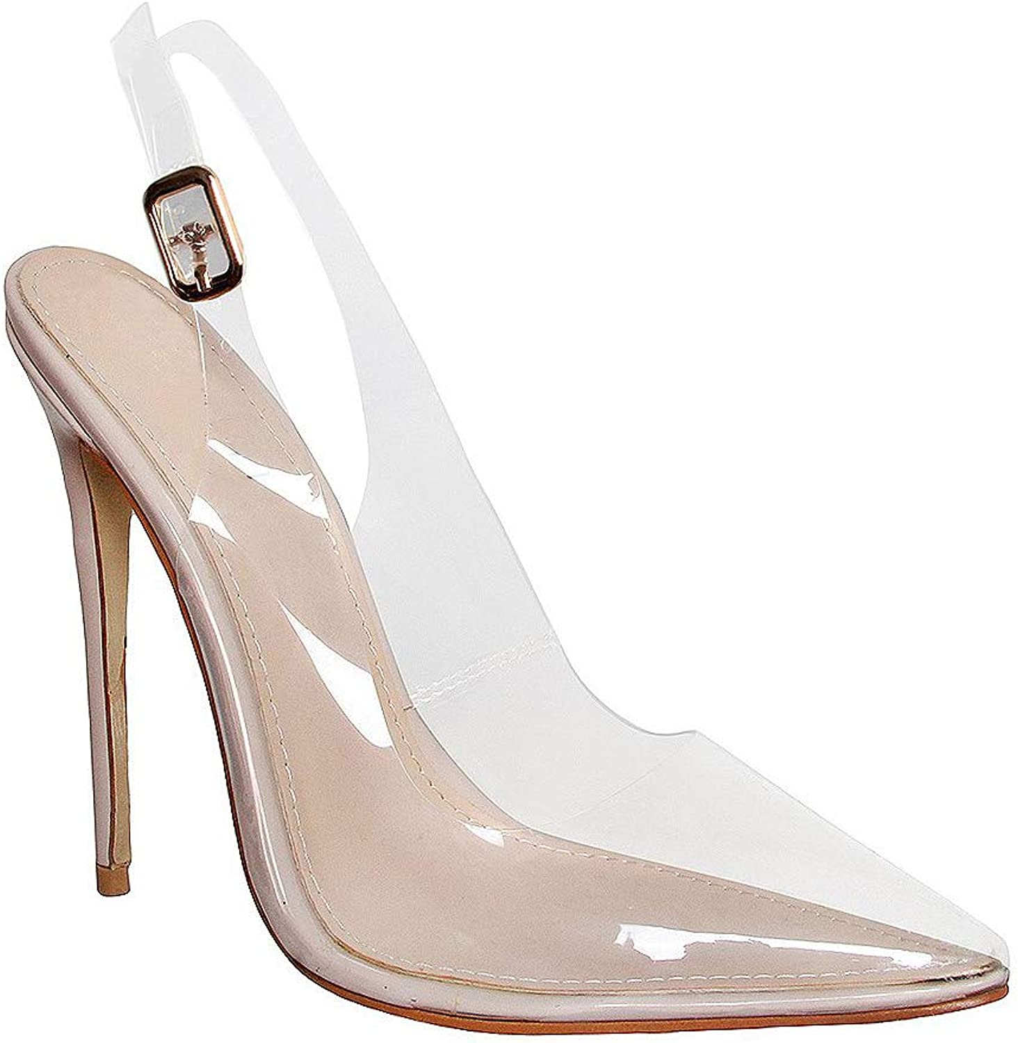 Hell&Heel Clear Stiletto Pumps Court shoes