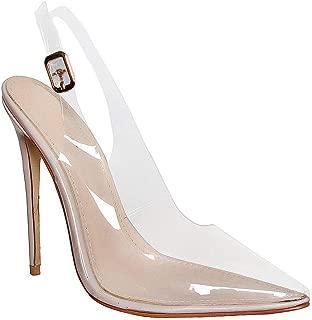 Clear Stiletto Pumps Court Shoes