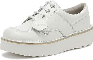 Kickers Kick Lo Womens White Leather Platform Shoes