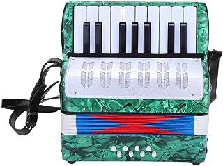 Akordeon, mini mały 17 klawiszy 8 basów akordeon edukacyjny instrument muzyczny zabawka dla początkujących nauka wczesnego...