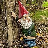 Garden Gnome Statue-Shy Gnome-Gnomes Garden Sculpture-Garden Yard Art Decoration,Outdoor Statue for Patio Yard Lawn Porch, Ornament Gift (Large)