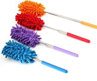 Washable Dusters for Cleaning,Dusting Brush Telescoping Microfiber Duster Extendable 11-30 inch Cleaning Dust Home Office ...