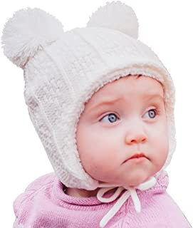 Baby Toddler Fleece Lined Winter Earflap Beanie Cream...