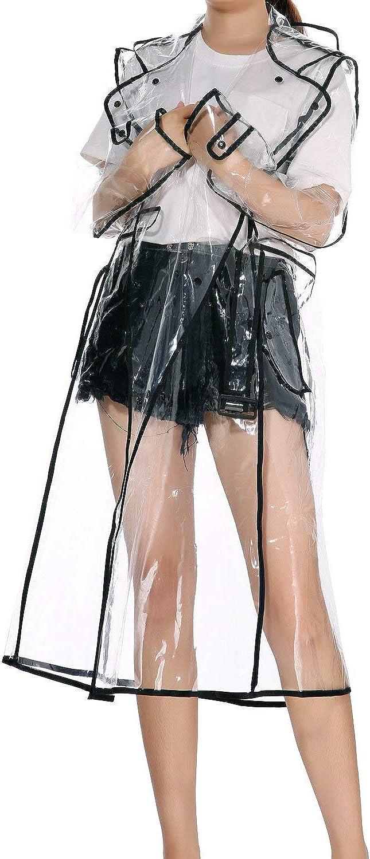 LERTREE Women's Sacramento Mall EVA Elegant Transparent Lightweight Rainwear Wa Raincoat
