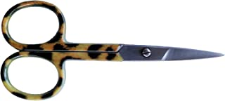 Tortoise Shell Nail Scissors, Manicure Cuticle Scissor With Fun Design, Cute Personal Grooming Trimming Care Helps Hand and Feet, Sharp Blade Trim Bangs & Eyebrows, Multi Use For Crafts & Office Desk