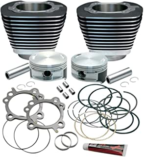 S&S Cycle 3 7/8in. Cylinder/Piston Kit for S&S 106in. Stroker - 10.5:1 Compression - Black Powder-Coat 910-0203