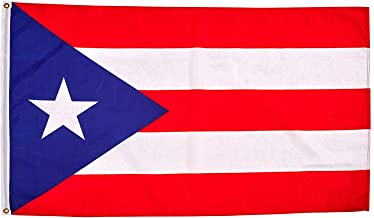 hxflag Puerto Rico Flag 3x5 Foot Puerto Rican National Flags with Brass Grommets 3 X 5 Ft