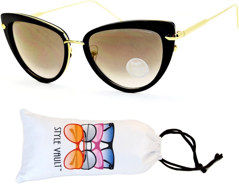 E3029vp Style Vault Cateye Metal&Plastic Sunglasses