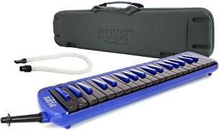 D'Luca Blue 37 Key Jungle Melodica with EVA Carrying Case