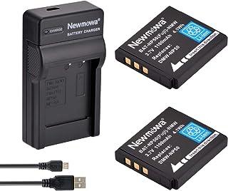 Newmowa NP-50 Batteria (confezione da 2) e Portable Micro USB Caricatore kit per Fujifilm NP-50 BC-50 BC-45W and Fuji Fine...