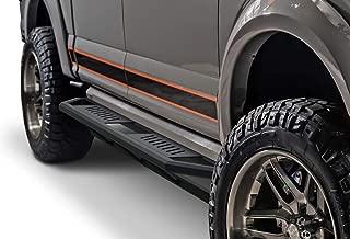 APS iArmor Aluminum Side Steps Armor Custom Fit 2015-2020 Ford F150 SuperCrew Cab Pickup 4-Door & 2017-2020 Ford F-250 F-350 SuperCrew Crew Cab (Nerf Bars Side Steps Side Bars)