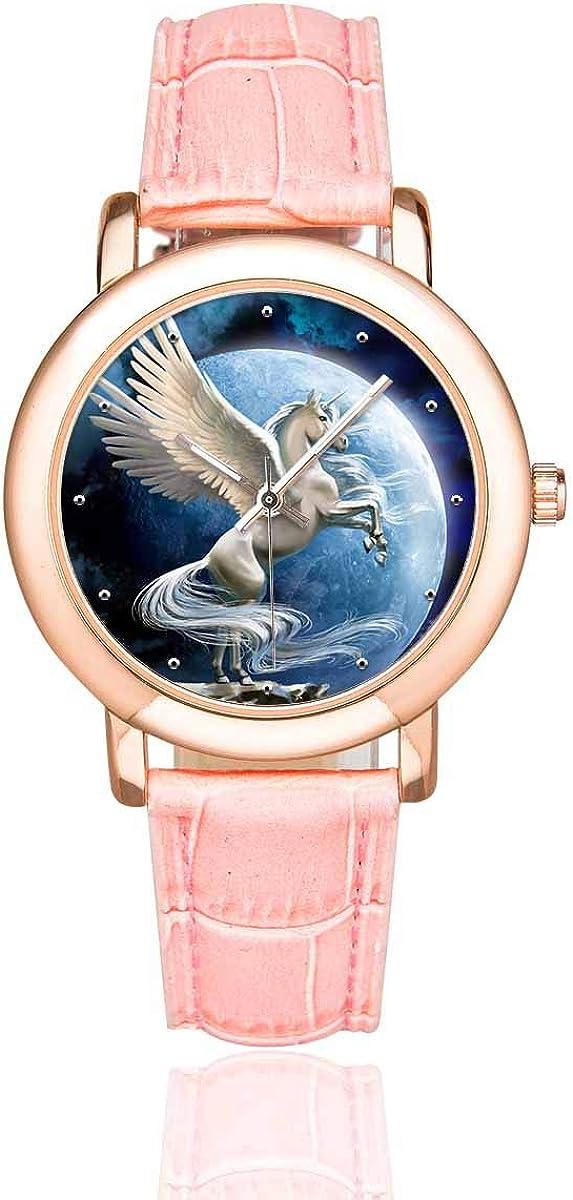 InterestPrint Pegasus Unicorn Women's Wrist Louisville-Jefferson County Mall Watches Beauty products Waterproof C