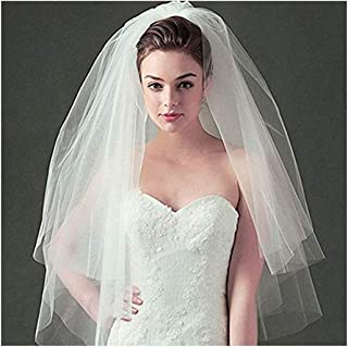 CanB Bridal Wedding Veils Tulle with Comb Bride Hair Accessories