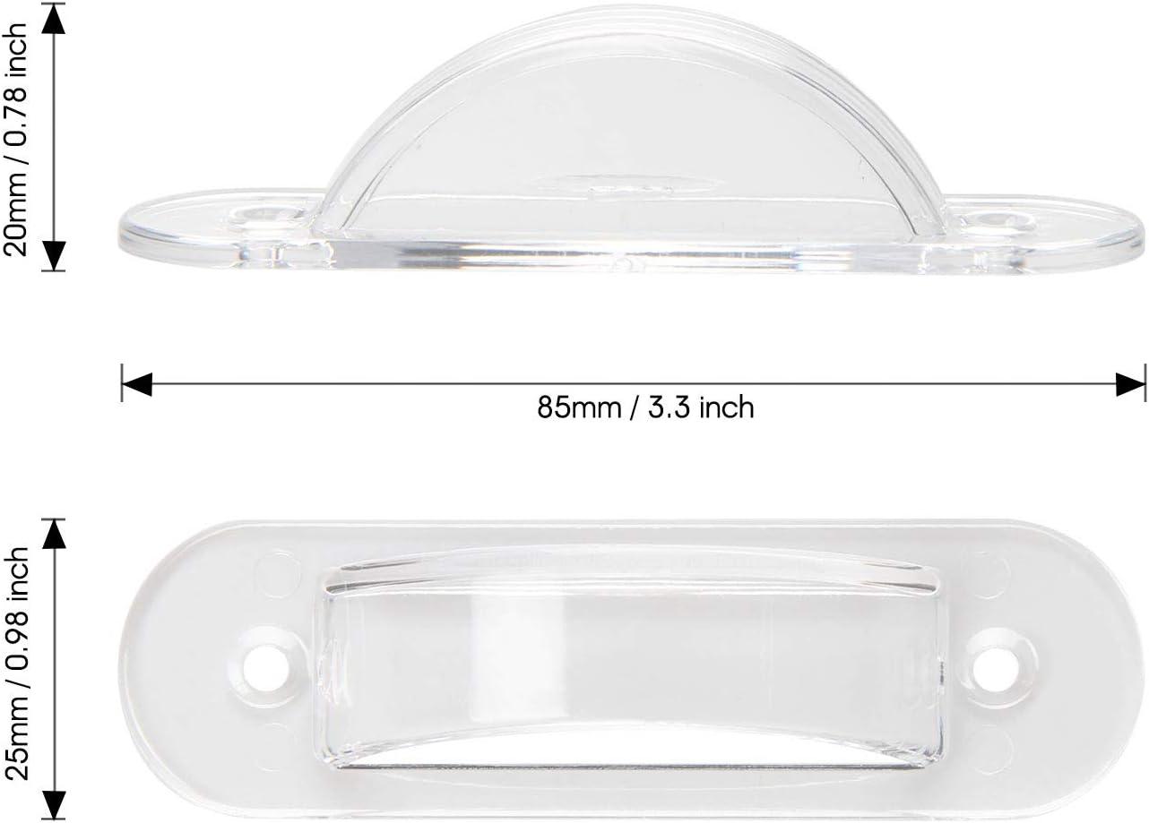 verhindert versehentliches Ein- oder Ausschalten h/ält Lichtschalter an oder aus Lisol Wandschalterschutz f/ür Kindersicherheit Heimdekoration transparent