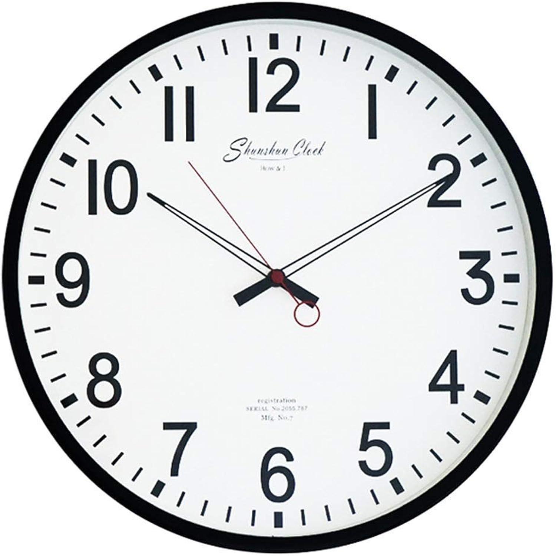 servicio de primera clase KKZHMI 16 Pulgadas Reloj de Parojo Mudo Mudo Mudo Creativo Moderno Reloj Minimalista Nios Reloj de Dibujos Animados Sala de Estar Dormitorio Reloj rojoondo (Color   B)  sorteos de estadio
