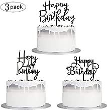 Best black happy birthday cake topper Reviews