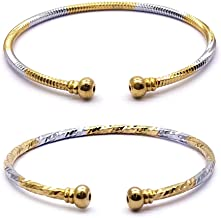 YouBella Jewellery Silver and Gold Adjustable Bracelet Combo of Two for Girls and Women