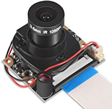 Dorhea Raspberry Pi 4 B 3 B+ Camera Module Automatic IR-Cut Switching Day/Night Vision Video Module Adjustable Focus 5MP OV5647 Sensor 1080p HD Webcam for Raspberry Pi 2/3 Model B Model A A+