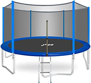 Sponsored Ad - JUPA 425 LBS Weight Capacity Trampoline for Kids Adults, 8 10 12 14 15 FT Recreational Trampoline with Safe...