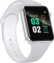 Smart Watch for Android Phones iPhone Compatible for Men Women - Aeifond Bluetooth Touch Screen Smartwatch Fitness Tracker with Camera Step Calorie Counter Sleep Monitor SIM SD Card Slot (White)
