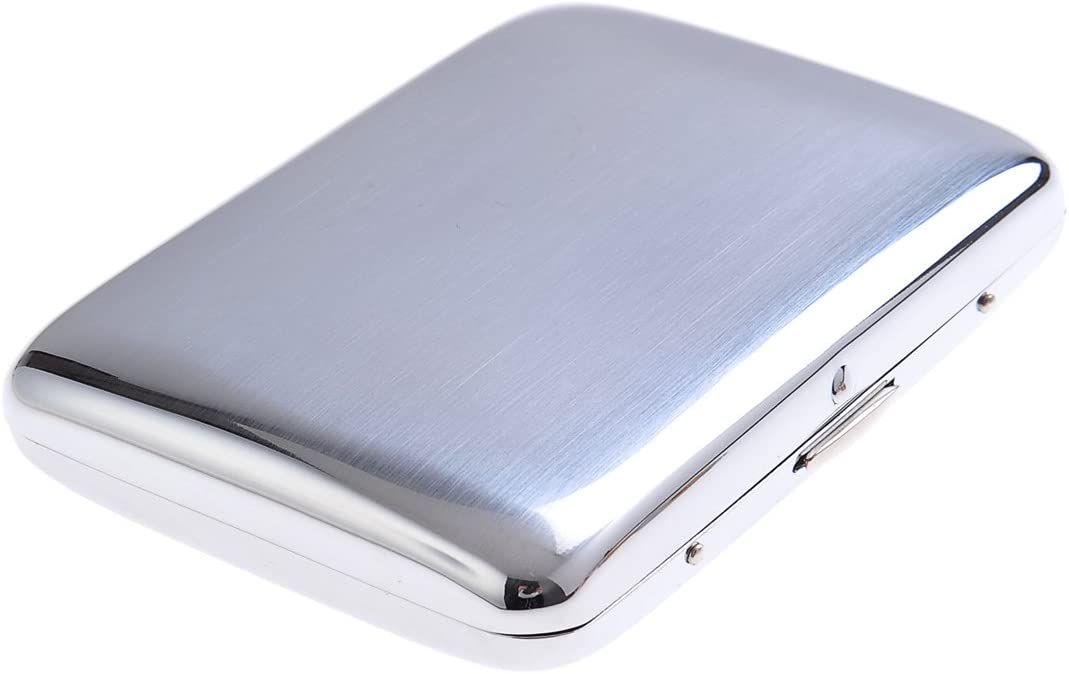 High-grade Challenge the lowest price of Japan ☆ Stainless Steel Cigarette elegantly Same day shipping convex Case with