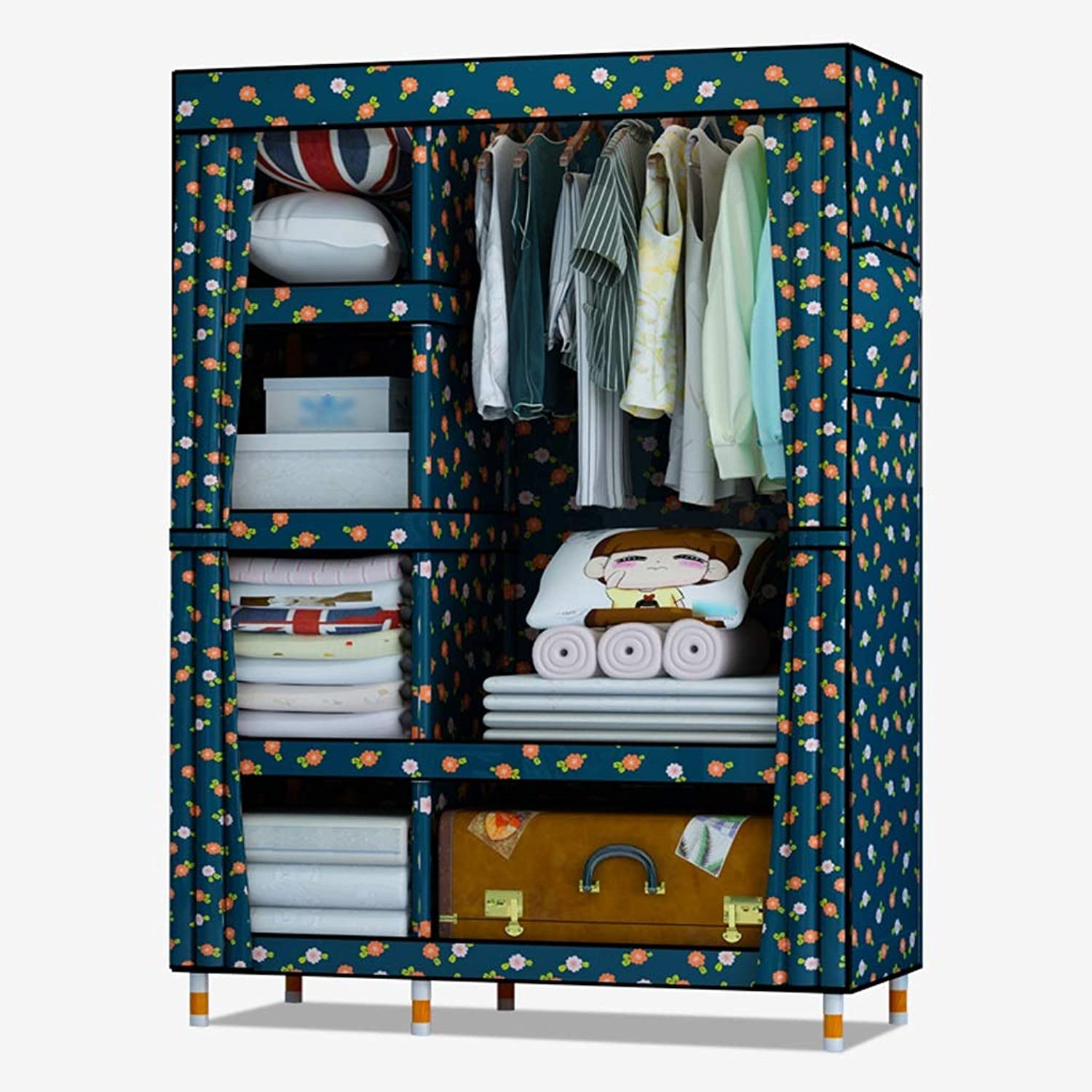 Hai Yan Boutique Cloth Wardrobe Cloth Wardrobe Single Wardrobe Simple Student Wood Combination Wardrobe Storage Clothes (color   A)