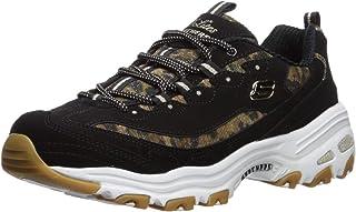 Skechers womens D'lites-quick Leopard Sneaker